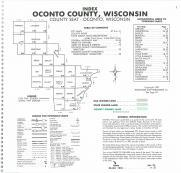 Index Map, Oconto County 1987